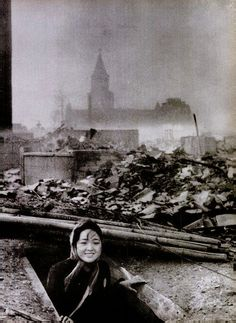 A woman who survived the Nagasaki bombing, 1945