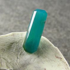 1.40 ct Lily Mine Blue Green Top Gem Silica Chrysocolla 12.5 x 4 mm Untreated #JewelsRoughGems