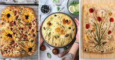 Pour un apéritif surprenant, misez sur la focaccia fleurie! Aussi belle à regarder que bonne à déguster, elle séduit les gourmands en quête d'originalité. On vous explique comment réaliser une Gardenscape Focaccia facilement. Bread Art, Vegan Recipes, Cooking Recipes, Bread Rolls, Creative Food, Fruits And Veggies, Marie Claire, Vegetable Pizza, Quiche