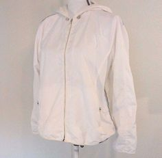 Izod Women's Windbreaker Hooded White Size XL Striping of Blue and Green Golf | Sporting Goods, Golf, Golf Clothing, Shoes & Accs | eBay!