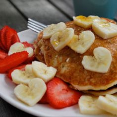Valentines day breakfast -- I would do heart shaped pancakes too :)