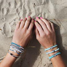 Atlantis Bracelet Stack & Aqua Blue Hair Tie Set Boho Beach Style, Tie Set, Atlantis, Blue Hair, Hair Ties, Aqua Blue, Turquoise Bracelet, Cuff Bracelets, Bb