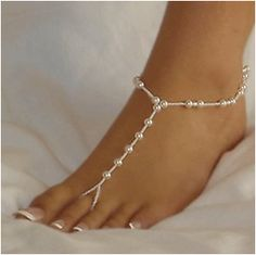 Hot Pearl Beach Wedding Barefoot Sandal Toe Ring Anklet Bracelet Foot Jewelry HG for sale online Beach Wedding Shoes, Beach Wedding Attire, Sandals Wedding, Beach Weddings, Beach Wedding Groom, Boho Wedding, Dream Wedding, Footless Sandals, Beach Feet