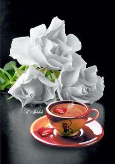Sweet Coffee, Coffee Love, Coffee Break, Coffee Cups, Tea Cups, Good Morning My Love, Good Morning Coffee, Good Morning Wishes, Good Morning Images