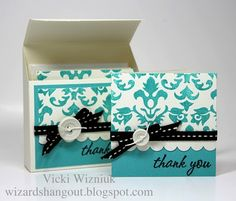"""Thursday, December 23, 2010  3x3 Damask Card Box Set... 
