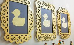 Craft~Frame DIY Duck Frames for a Ducky Baby Shower Kids Rooms