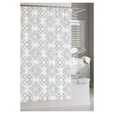 Kassatex Gazing Medallion Shower Curtain - Blue/Silver : Target