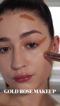 Eyebrow Makeup, Skin Makeup, Eyeshadow Makeup, Makeup Brushes, Fresh Face Makeup, Shimmer Eye Makeup, Makeup Pictorial, Makeup Makeover, Cute Makeup