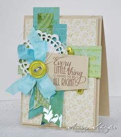 Stacey #125 layered papers card