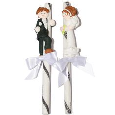 Bride & Groom Candy Climbers - for the top of the cake! #nutsdotcom #wedding