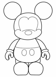 Here a great Mickey Mouse Template. Will be very useful for decorating Mickey Parties. Visit our · Mickey Mouse Alphabet Selection! Mickey Mouse Template, Mickey Minnie Mouse, Disney Mickey, Felt Patterns, Applique Patterns, Coloring Books, Coloring Pages, Trick Or Treat Bags, Mickey Party