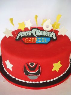 Can I figure this out? Tortas Power Rangers, Bolo Power Rangers, Power Rangers Birthday Cake, Power Rangers Ninja Steel, Pawer Rangers, Power Ranger Party, Power Ranger Dino Charge, Power Ranger Cupcakes, Power Ranger Cake