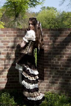 Steampunk Ruffle Skirt by ViviansPhotographs.deviantart.com on @deviantART