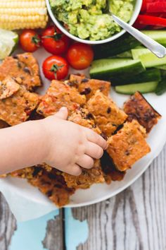 Mexican lentil bake. Packed with veggies. High protein, finger food. Great for BLW (baby led weaning) and great for the lunch box.