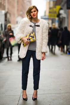 Street Style - Statement Jacket - monstylepin #fashion #streetstyle #outfit #style #jacket #clutch #trend