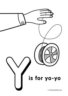y letter coloring pages of alphabet y letter words for kids - Kids Printable Pictures