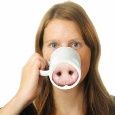 Great gift idea!  Pig nose cup!