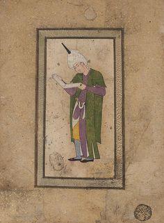 Portrait d'un jeune homme vêtu à la mode séfévide lisant un livre | Flickr - Photo Sharing!