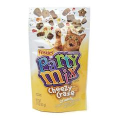 Friskies Party Mix, Cheesy Craze Crunch, Cheddar Swiss Monterey Jack Flavor 2.1 oz(pack of 3) * Details can be found by clicking on the image.