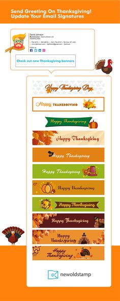 Email signature banner Thanksgiving