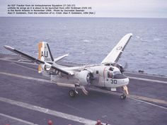 Uss Yorktown History | S2F Tracker about to launch from Yortown, 1969
