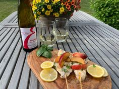Erie Shore Vineyard 2017 Riesling Dry with Pan Fried Haddock in a Basil and Citrus Butter Sauce Essex County, Complete Recipe, Butter Sauce, Fresh Basil, Wineries, Crisp, Vineyard, Peach, Stuffed Peppers