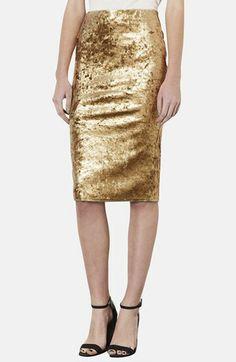 Metallic Foil Velvet Tube Skirt from @Nordstrom