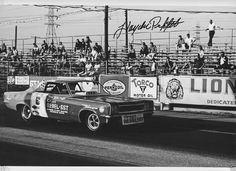 Hayden profitt corvair nhra drag decals 1977s chevy chevrolet hayden proffitts autographed grant rebel sst at lions 8x12 drag racing photo sciox Images