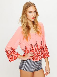 Free People Climbing Vines Top, $148.00