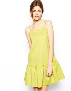 Pin for Later: Beat the Heat With 99 Cool-Girl Style Finds — All Under $100 ASOS Peplum Dress With the eye-catching hue and ultraflattering fit, this peplum-trimmed dress ($73) is a no-brainer.