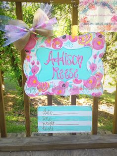 "Baby Names Search - First Name ""Blakely"" Hospital Door Signs, Hospital Door Hangers, Baby Door Hangers, Wooden Door Hangers, Birth Announcement Sign, Newborn Announcement, Painted Doors, Painted Signs, Unusual Baby Names"