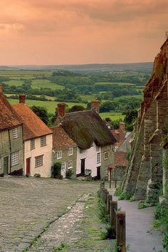 Gold Hill Cottages, Shaftesbury, England, I want to go to an English village one day. Oh The Places You'll Go, Places To Travel, Places To Visit, Lonly Planet, Beautiful World, Beautiful Places, English Village, English Countryside, Wonders Of The World
