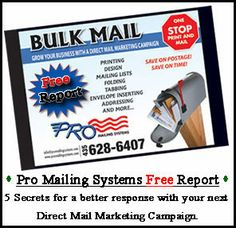 Small Business owners don't miss your 2014 FREE Direct Mail Marketing Campaign report. http://promailingsystems.com/contact.php