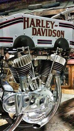"1914 Harley-Davidson ""A"" motor racer. At Wheels Through Time museum."