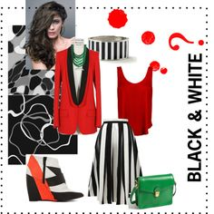 b&w? by vasilisa-i on Polyvore featuring мода, STELLA McCARTNEY, Pierre Hardy, MARC BY MARC JACOBS and Rosantica