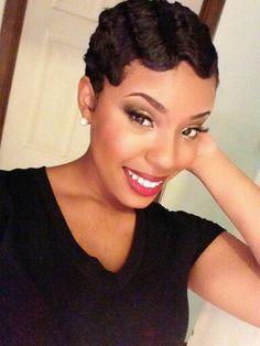 Pleasing Finger Waves Fingers And Waves On Pinterest Short Hairstyles For Black Women Fulllsitofus