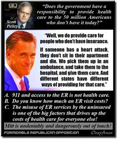 Romney's Entire Understanding Of Health Care In One Itty Bitty Graphic | MoveOn.Org