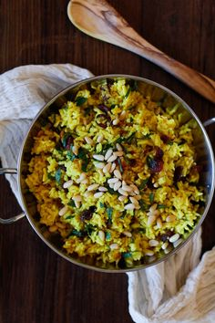ginger and turmeric aromatic rice.