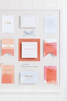 Create a kikki.K Vision Board and curate your inspirations, goals and dreams in one stylish place.