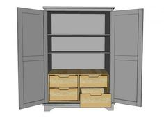 Toy or TV Armoire Drawer Insert