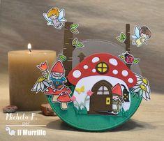 Nel bosco più fitto ci sono anche loro.. creature magiche e meravigliose che vivono tra i funghi. Ho realizzato questa card che dondola utilizzando le fustelle Cerchi de La Coppia Creativa e fustelle e timbri Lawn Fawn.. fustella Mushroom House, fustelle Birch Trees ed erba, set timbri Oh gnome e Fairy Friends. Michela Favalli  #handmadecardsideas #cards #cardshandmade #springcards #ohgnomelawnfawn #cardgnomi Challenges, Birthday Cake, Friends, Blog, House, Amigos, Home, Birthday Cakes, Boyfriends