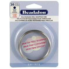 Beadalon® 316L Stainless Steel Wrapping Wire, Round, 20 Gauge