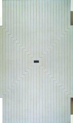 Six Mile Bottom ~ 1960 ~ Alkyd paint on canvas ~ 300 × cm ~ Tate, London Frank Stella, Tate Modern Art, Post Painterly Abstraction, Hard Edge Painting, Jewish Museum, New York Art, Vintage Artwork, Space Age, American Art