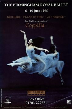 Birmingham Royal Ballet - Serenade/Pillar of Fire/Le Tricorne/Coppélia Poster artwork,The Mayflower Southampton, 1995; Monica Zamora in Serenade; photo: Bill Cooper