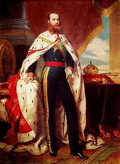 Maximilian I of Mexico (1832 - 1867). Son of Franz Karl and Sophie of Bavaria. He married Charlotte of Belgium.