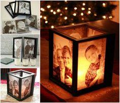 DIY Lamp Tutorial | Picture Frame Ideas at http://diyjoy.com/craft-ideas-diy-picture-frames