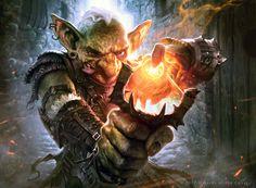 Male Goblin Artificer Alchemist Rogue Slingshot Magic