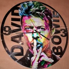 Vinyl wall clock DAVID BOWIE
