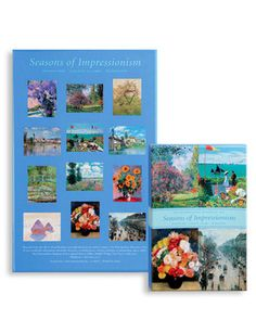 Notes, Seasons of Impressionism - The bold brushstrokes of famous Impressionist and Post-Impressionist painters convey the sense of each seaon, from the vibrant tones of autumnal harvest to the delicate hues of spring flowers. 36 blank note cards