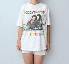 Vintage neon HOLLYWOOD 90s tshirt by #ZvezdanaVintage on Etsy, $26.00
